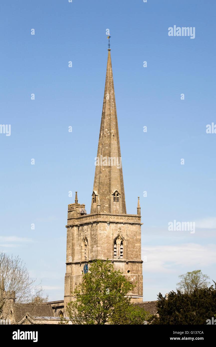 St John the Baptist Church, Burford. - Stock Image