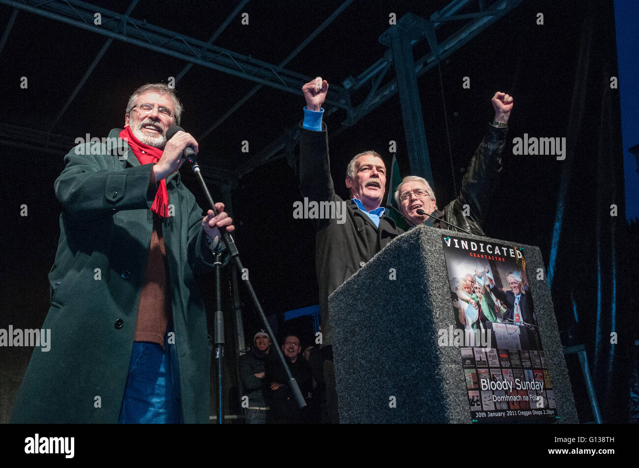 Londonderry. Northern Ireland. 30 Jan 2011 - Frankie Duddy, whose brother Jackie was one of the victims of Bloody Stock Photo