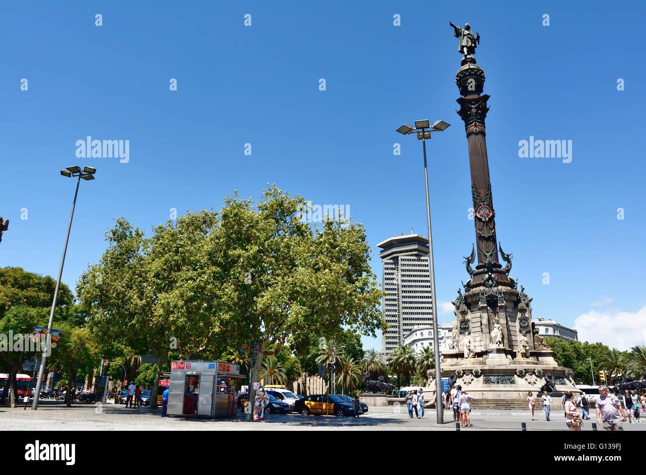 Columbus monument. Barcelona, Catalonia, Spain, Europe - Stock Image