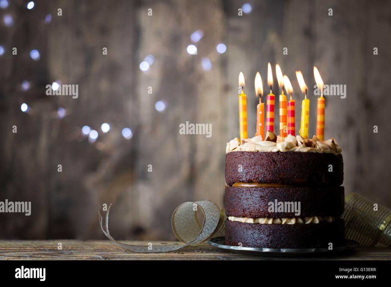 Chocolate Birthday Cake Stock Photos Chocolate Birthday Cake Stock