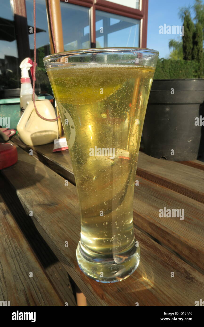Home-brew cider - Stock Image