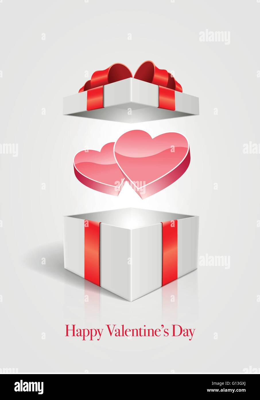 Vector Valentine S Day Design Template Heart In Open Gift Box Stock