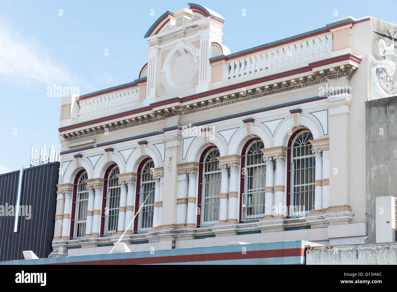 Heritage building frontage King Street, Newtown, Sydney, New South Wales, Australia - Stock Image