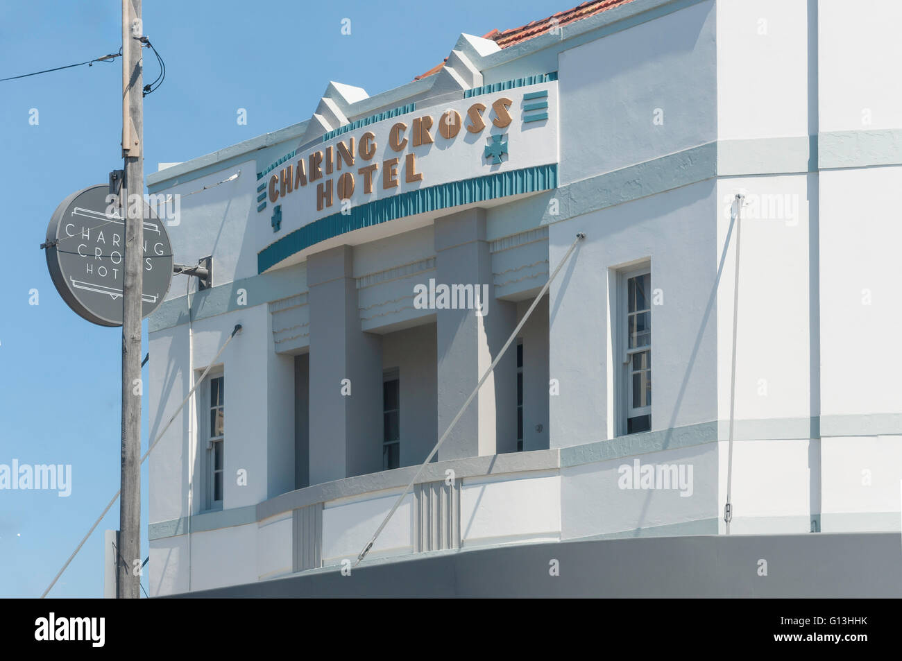 Art Deco Charing Cross Hotel, Carrington Road, Waverley, Sydney, New South Wales, Australia - Stock Image
