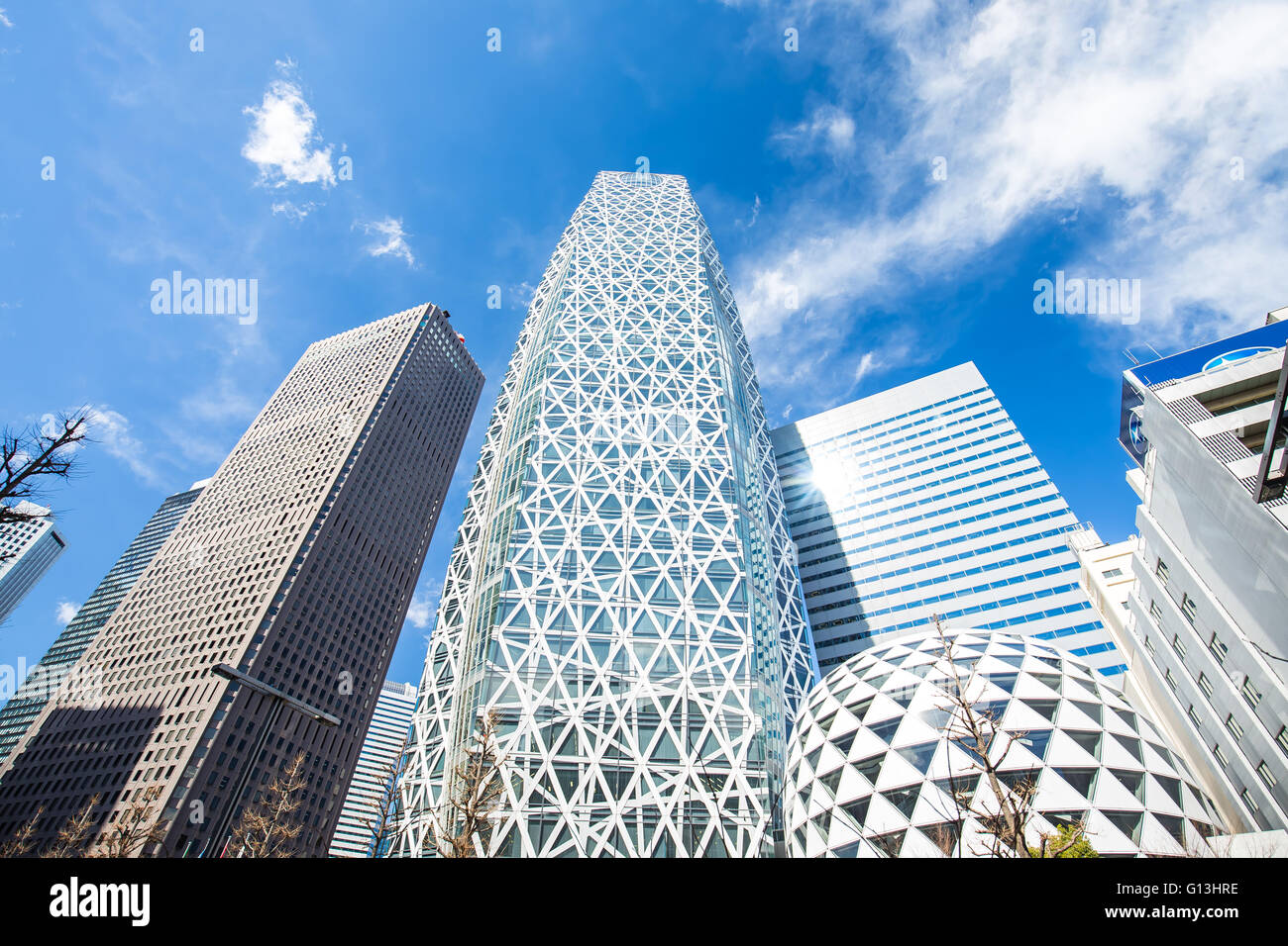 Tokyo, Japan - February 13, 2015: Shinjuku is a special ward located in Tokyo Metropolis, Japan. It is a major commercial - Stock Image
