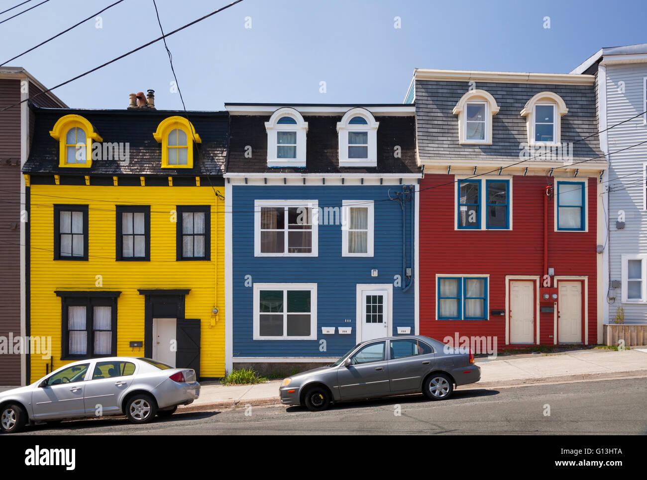 Jelly Bean Row >> Colourful Row Houses Jellybean Row In Downtown St John S Avalon