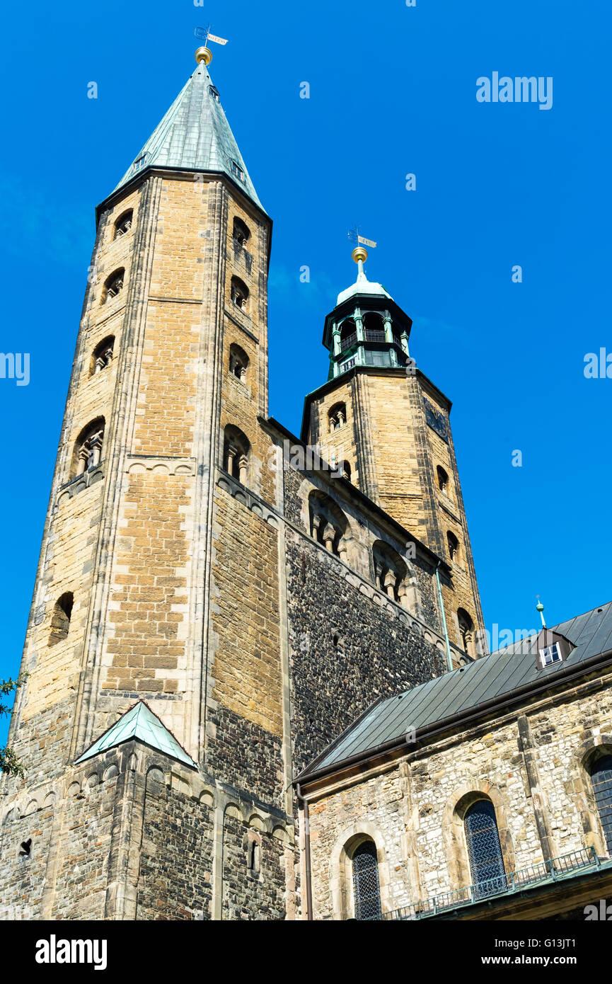 Market Church St. Cosmas and Damian, Goslar, Harz, Lower Saxony, Germany, Unesco World Heritage Site - Stock Image