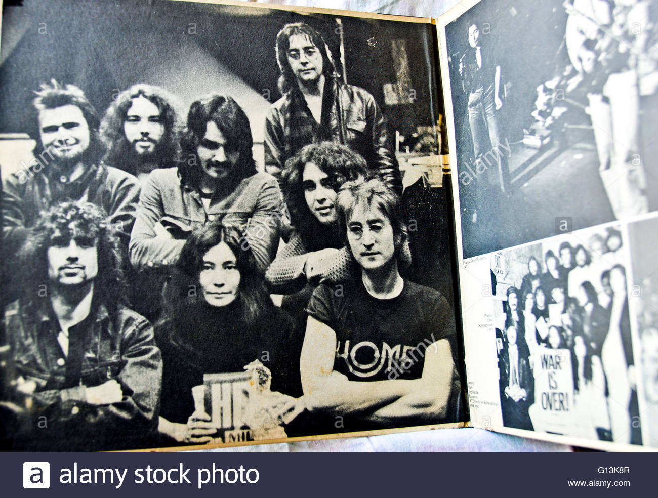 Classic Album Artwork Vinyl John Yoko Ono Band Sometime In Nyc Stock Photo Alamy