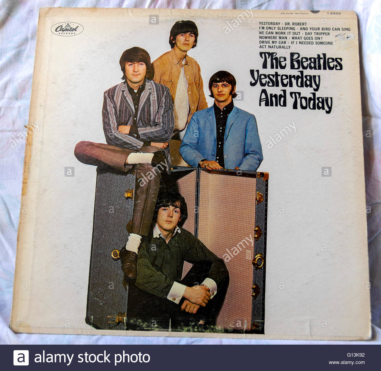 Classic album artwork (Vinyl) The Beatles, 'Yesterday and Today' (Front) 1960s - Stock Image
