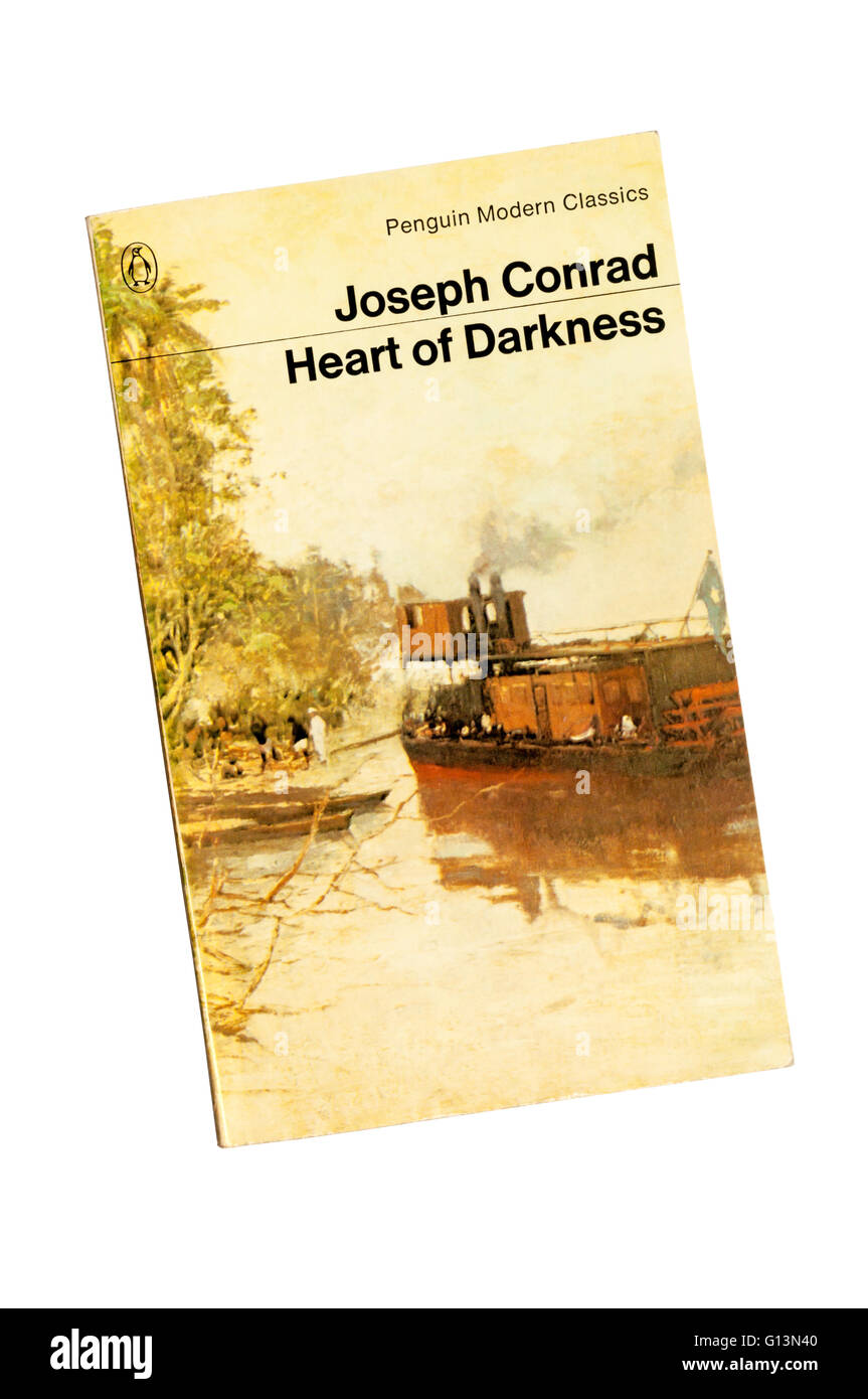 Penguin Modern Classic edition of Heart of Darkness by Joseph Conrad. Cover shows detail from The Steamer Stanley - Stock Image