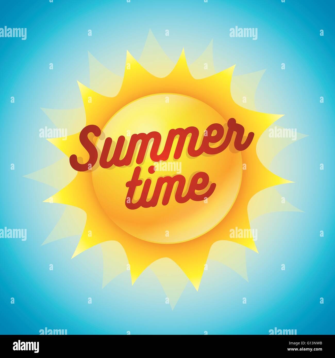 vector summer concept design  hello summer text on cutty