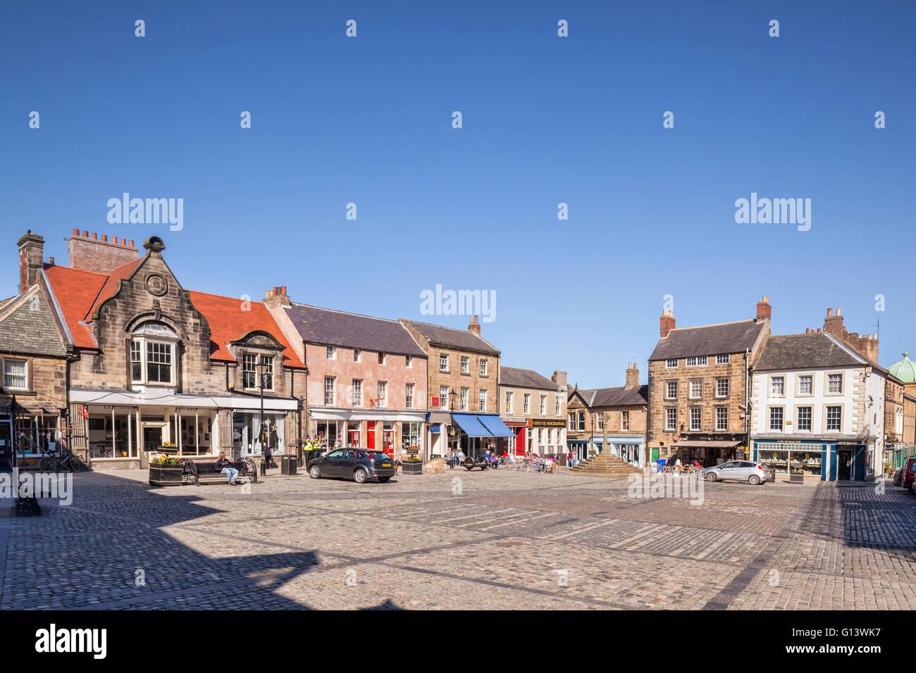 Market Square, Alnwick, Northumberland, England, UK - Stock Image