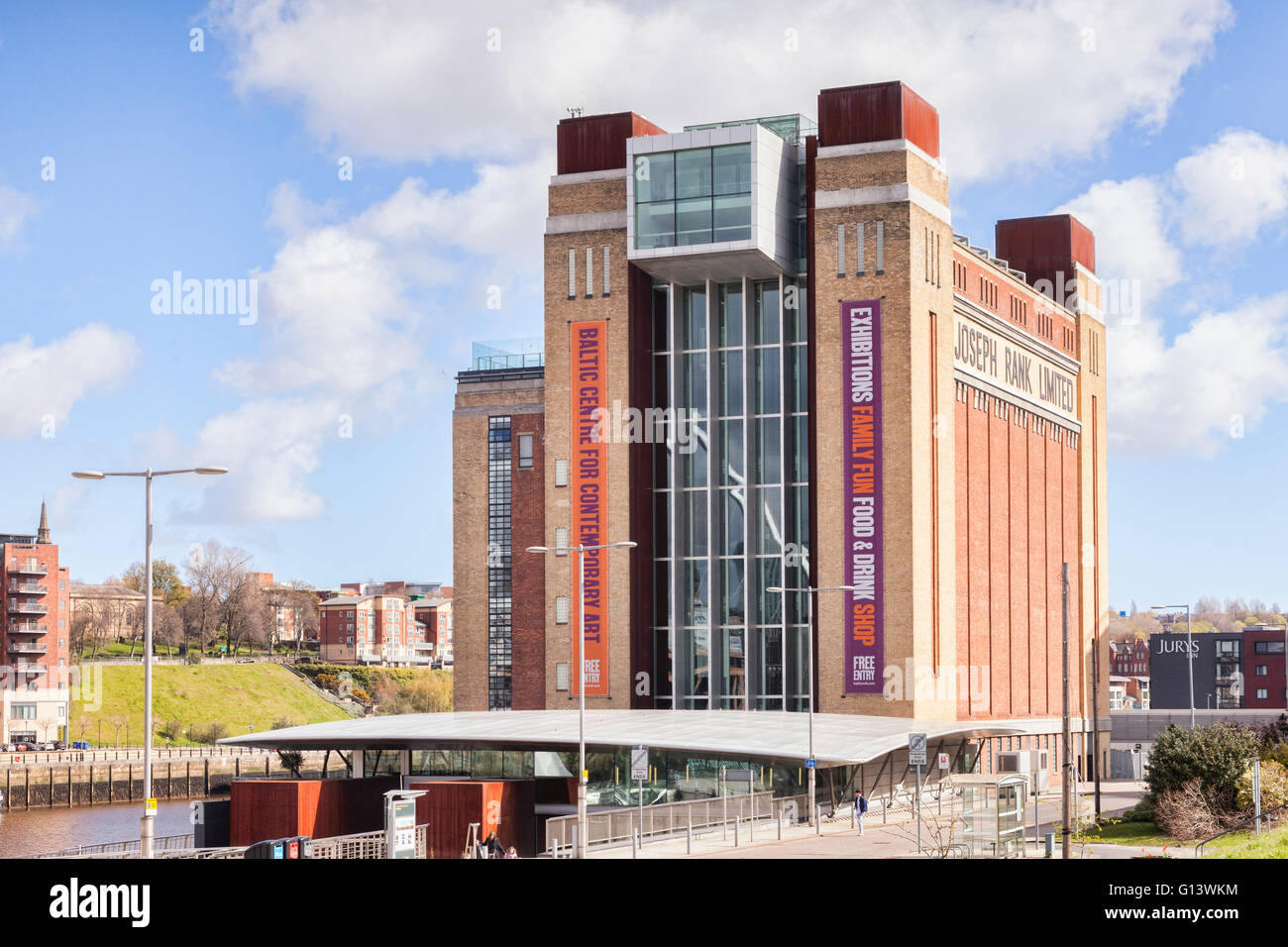 Baltic Centre for Contemporary Art, previously the Baltic Flour Mill,  Gateshead Quays, Tyne and Wear, England, - Stock Image