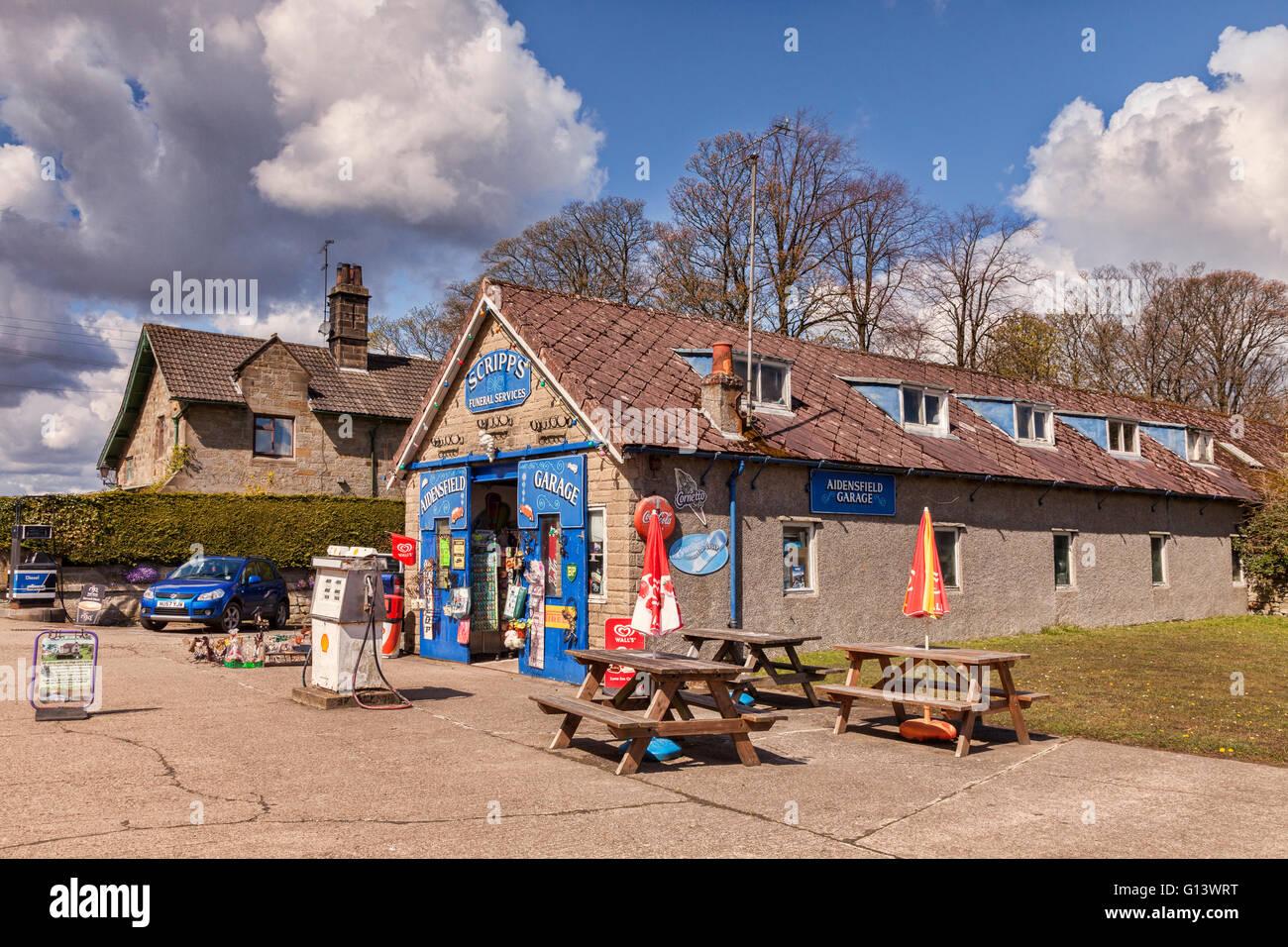 Aidensfield Garage, Goathland, North Yorkshire, England, UK - Stock Image