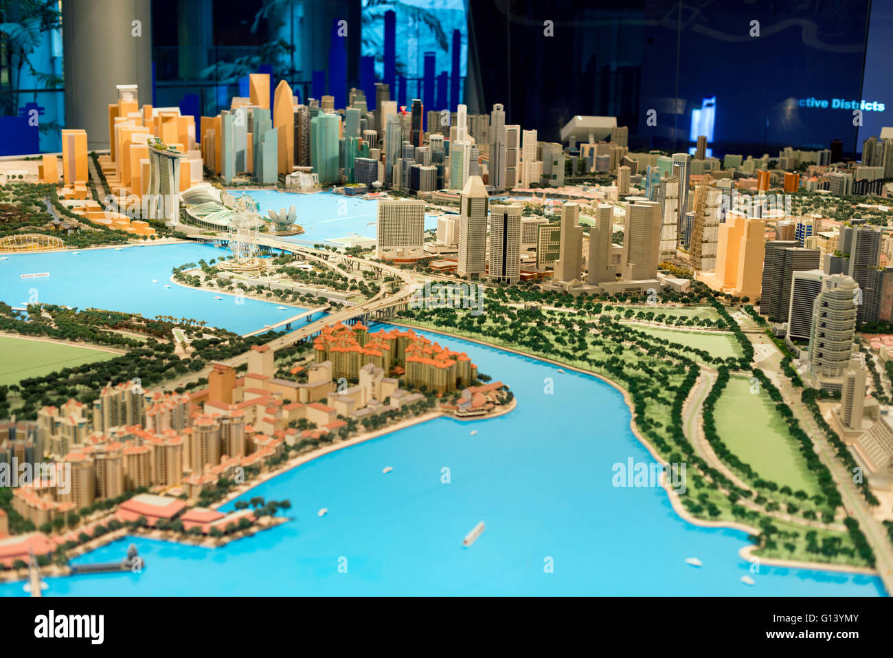 South East Asia, Singapore, city planning building, scale model of singapore - Stock Image