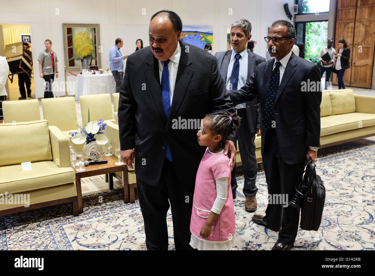 Jerusalem Israel 8th May 2016 Martin Luther King Iii Son Of