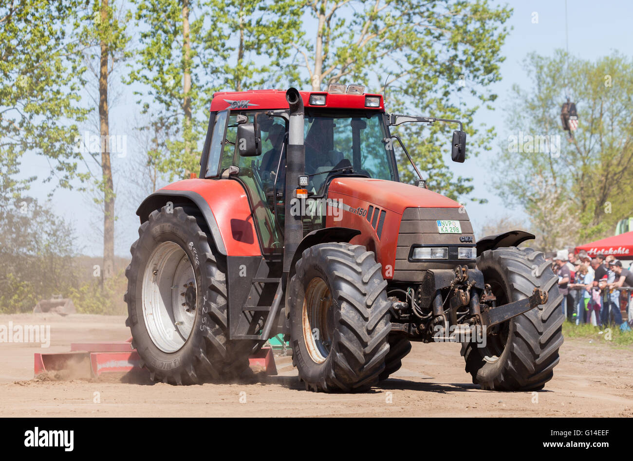 GRIMMEN/ GERMANY - MAY 5: german case puma cvx 150 tractor drives on track