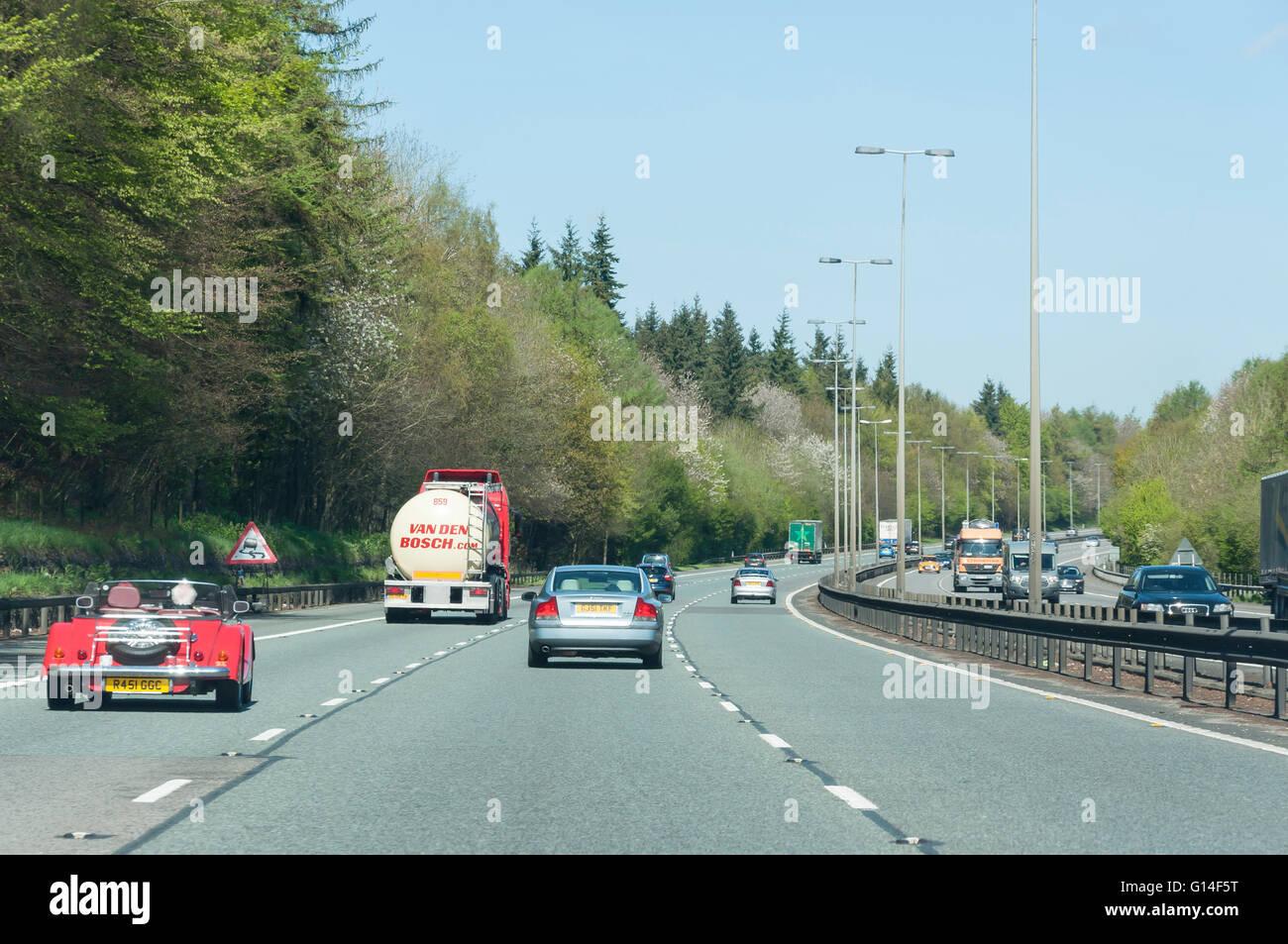 M40 Motorway, Surrey, England, United Kingdom - Stock Image
