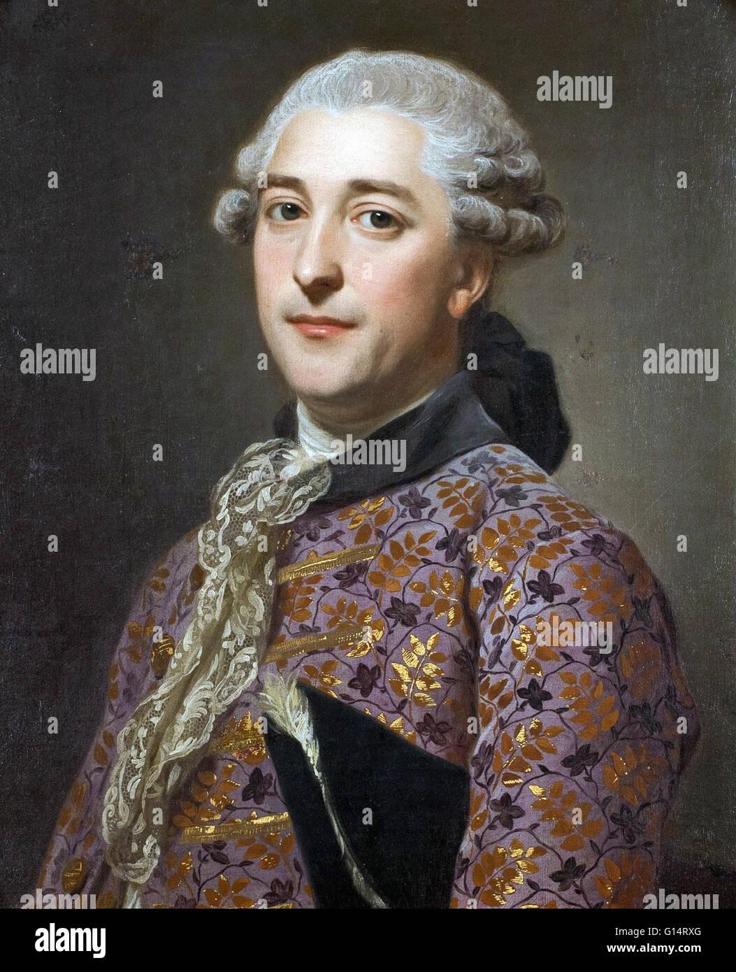 Alexander Roslin - Portrait of Prince Vladimir Golitsyn Borisovtj - Stock Image