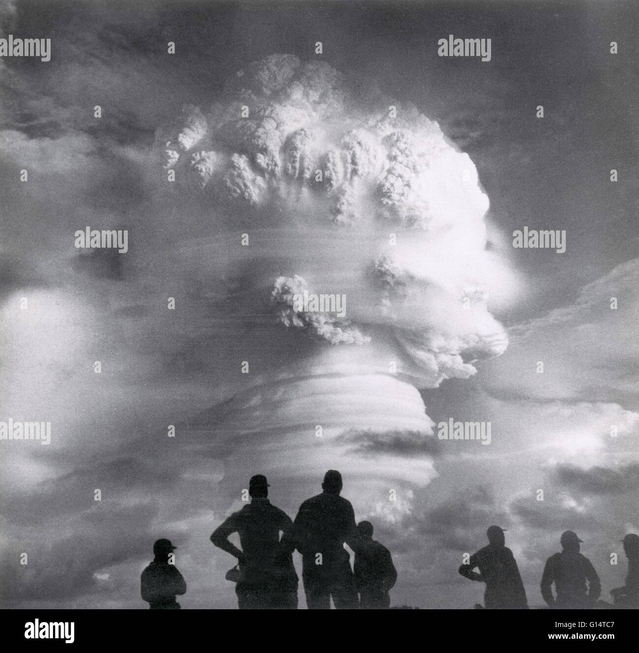 Historic image of a nuclear weapon being detonated. - Stock Image