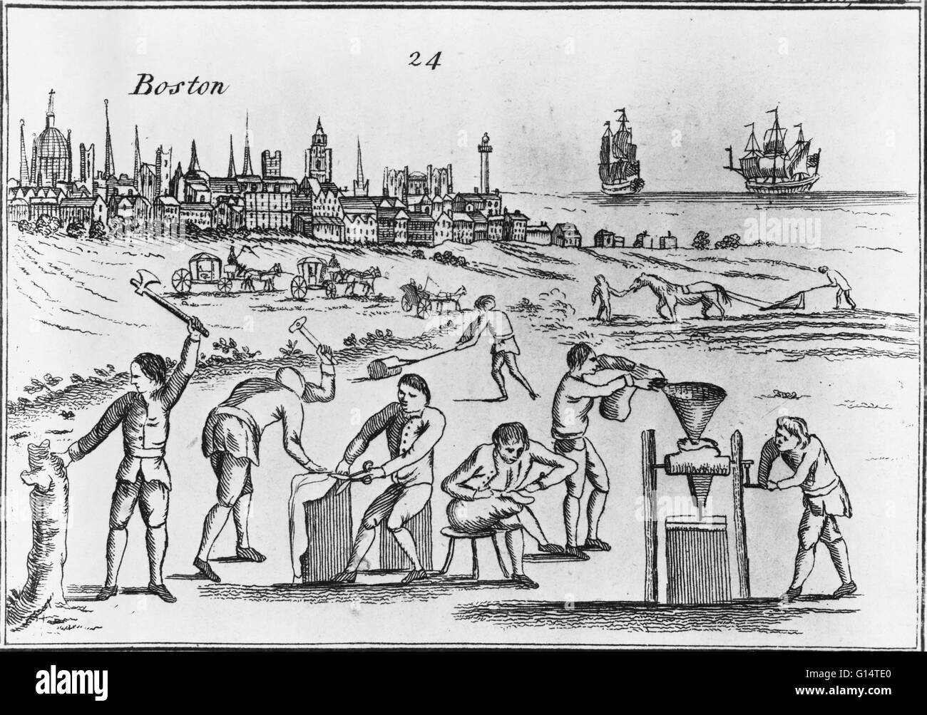 'Political electricity; or, an historical & prophetical print in the year 1770,' an engraving from a - Stock Image