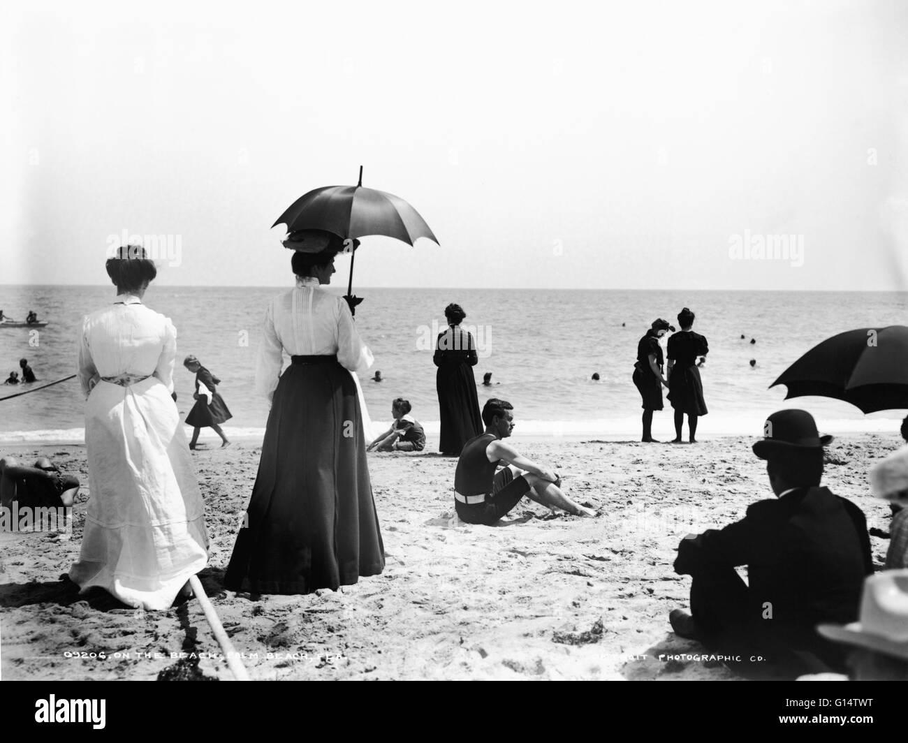 Palm Beach circa 1900 - 1906. - Stock Image