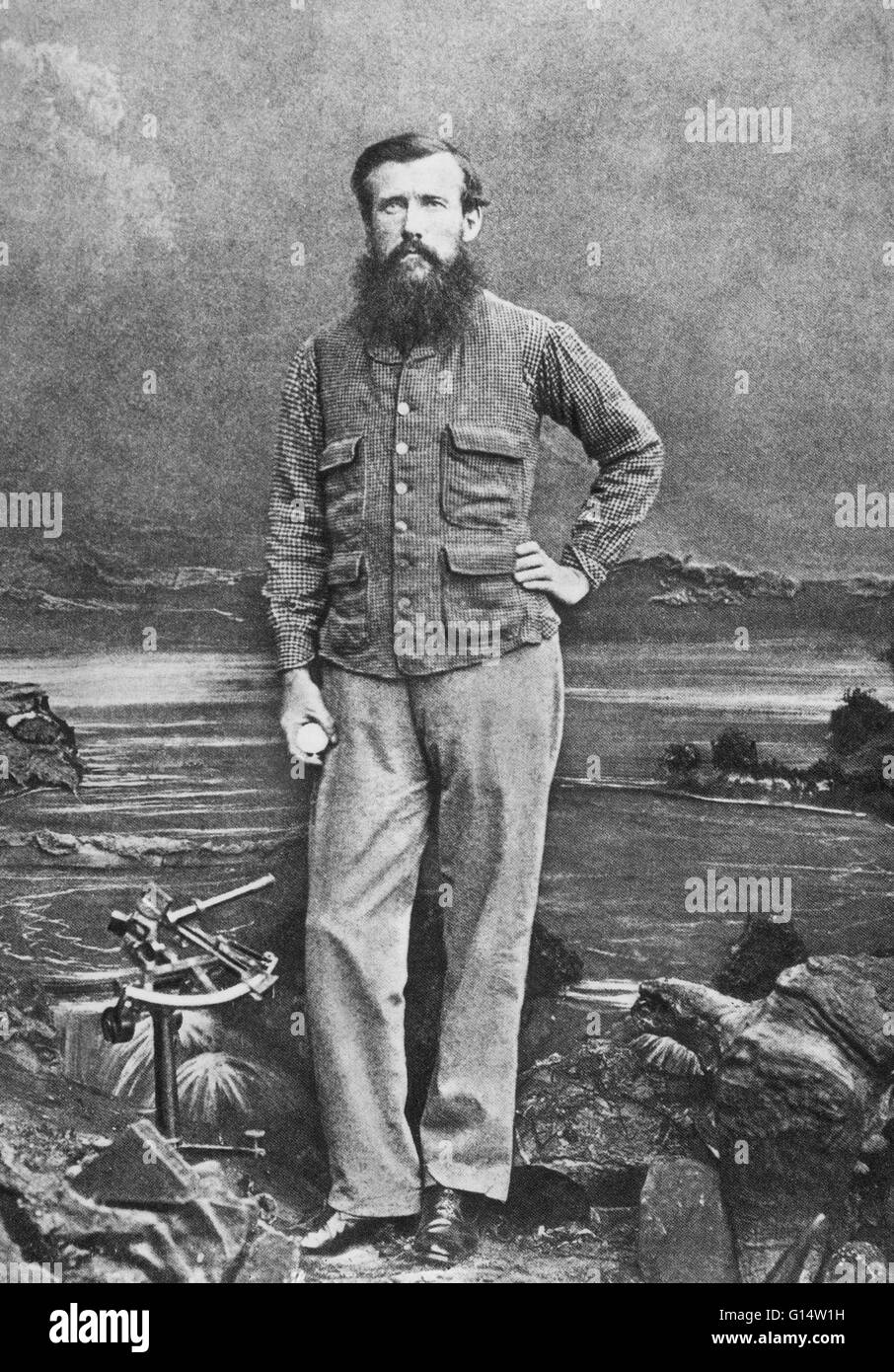 John Hanning Speke (1827-1864) was an officer in the British Indian Army who made three exploratory expeditions - Stock Image