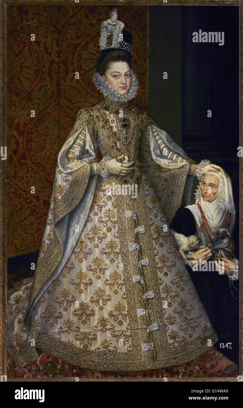 Isabella Clara Eugenia (1566-1633). Infanta of Spain. Portrait of Infanta Isabella Clara Eugenia and Magdalena Ruiz, - Stock Image