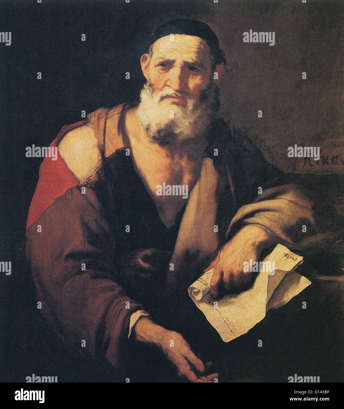 Leucippus (first half of 5th century BC) was an Ionian Greek who belonged to the same Ionian School of naturalistic - Stock Image