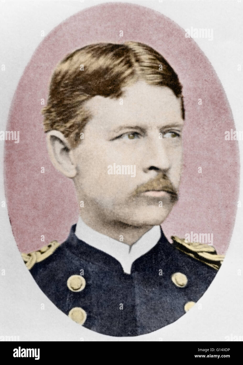 Walter Reed (1851-1902), American physician, who specialized in the study of epidemic diseases. He discovered ways - Stock Image