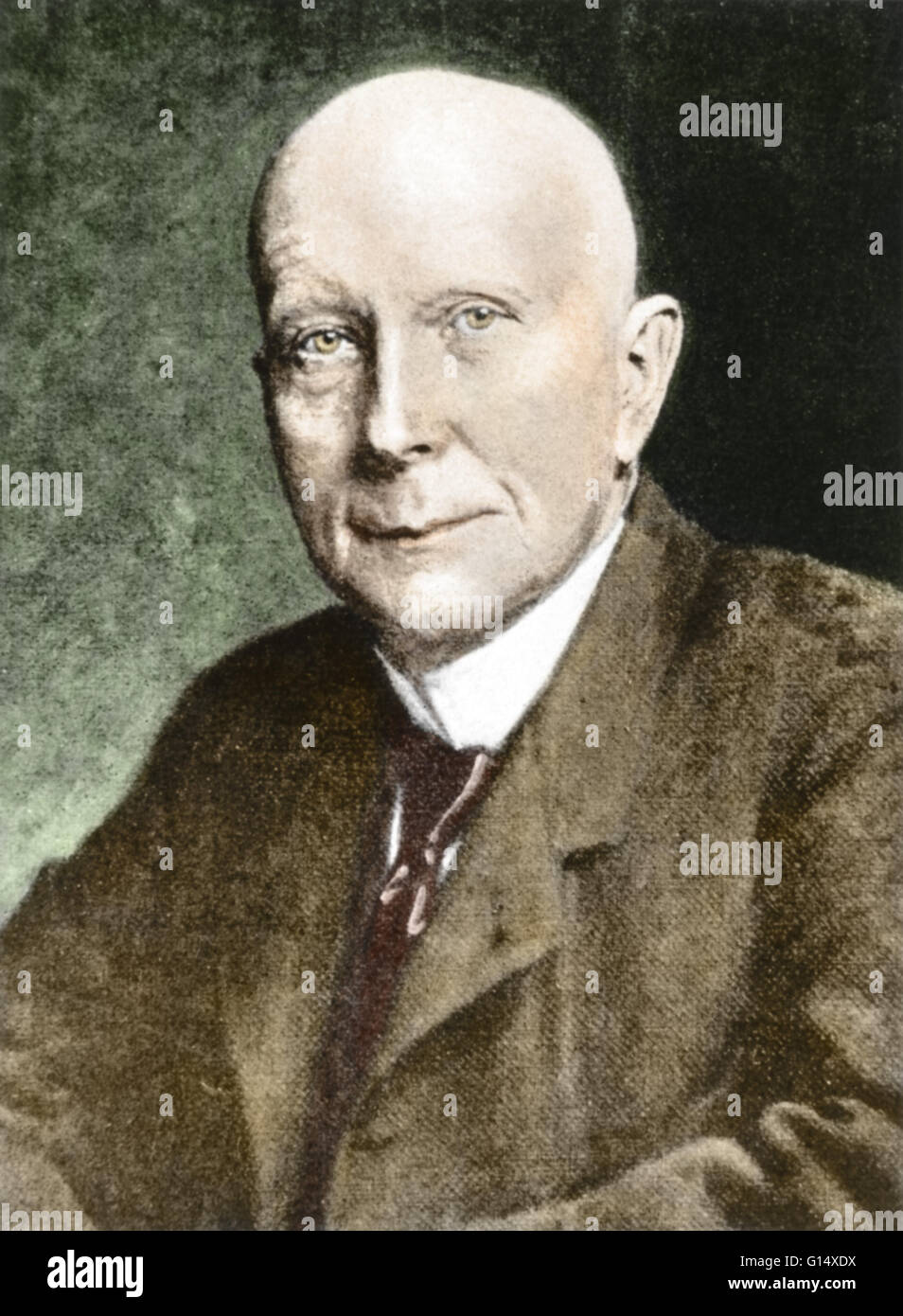 John Davison Rockefeller (July 8, 1839 - May 23, 1937) was an American industrialist and philanthropist. He founded - Stock Image