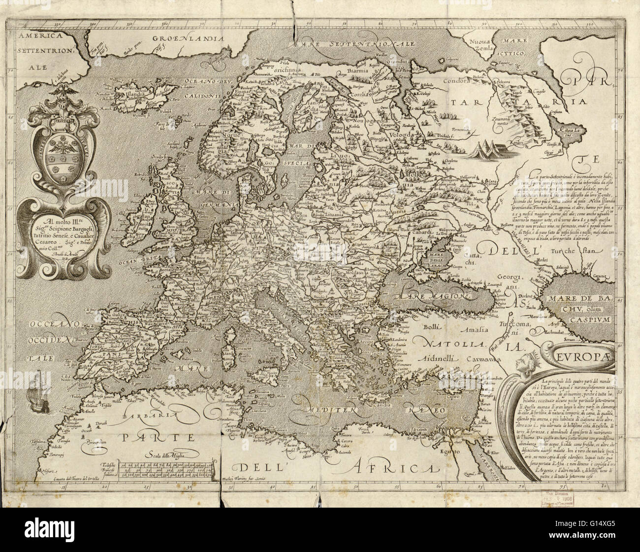 Map Europe 16th Century Stock Photos Map Europe 16th Century Stock