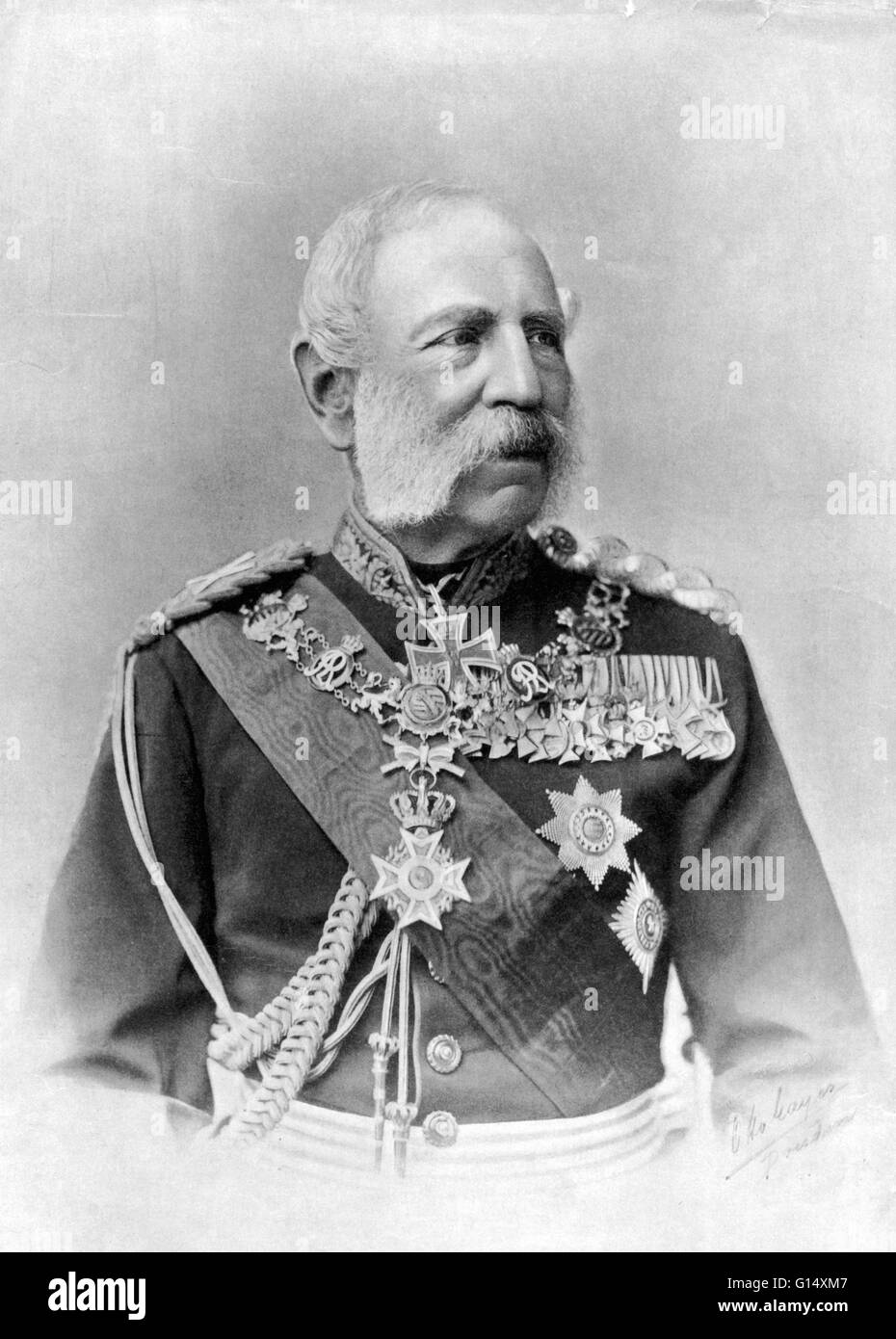 William I, German Emperor, King of Prussia and first German Emperor, 1797-1888. - Stock Image
