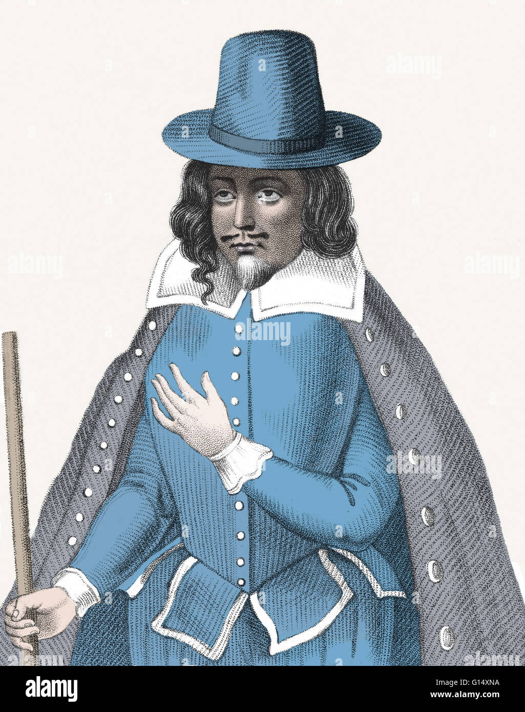 Matthew Hopkins (1620 - August 12, 1647) was an English witchhunter whose career flourished during the time of the Stock Photo