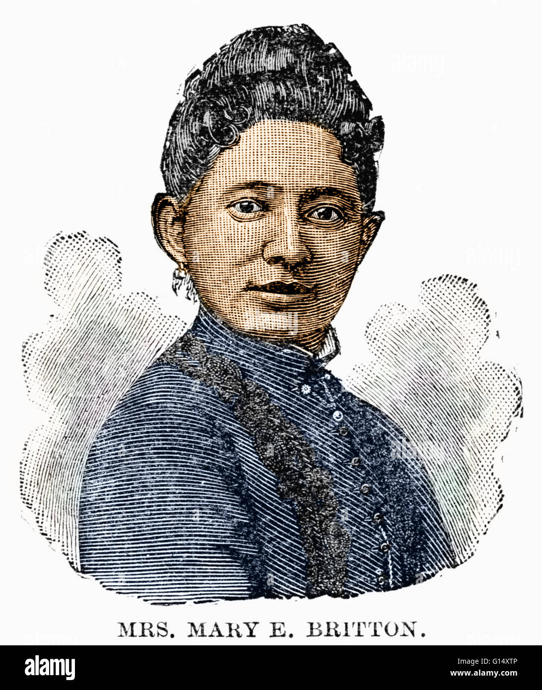 Mary E. Britton (1815 - 1925) was an African-American physician. She attended Berea College, the first institution Stock Photo