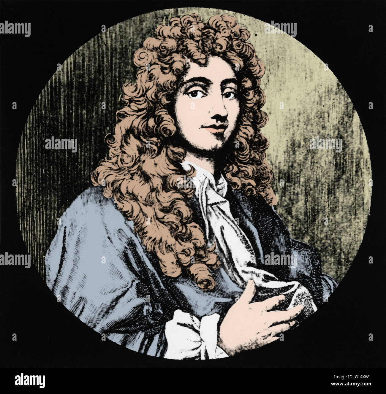 Christiaan Huygens (April 14, 1629 - July 8, 1695) was a prominent Dutch mathematician, astronomer, physicist, probabilist, - Stock Image