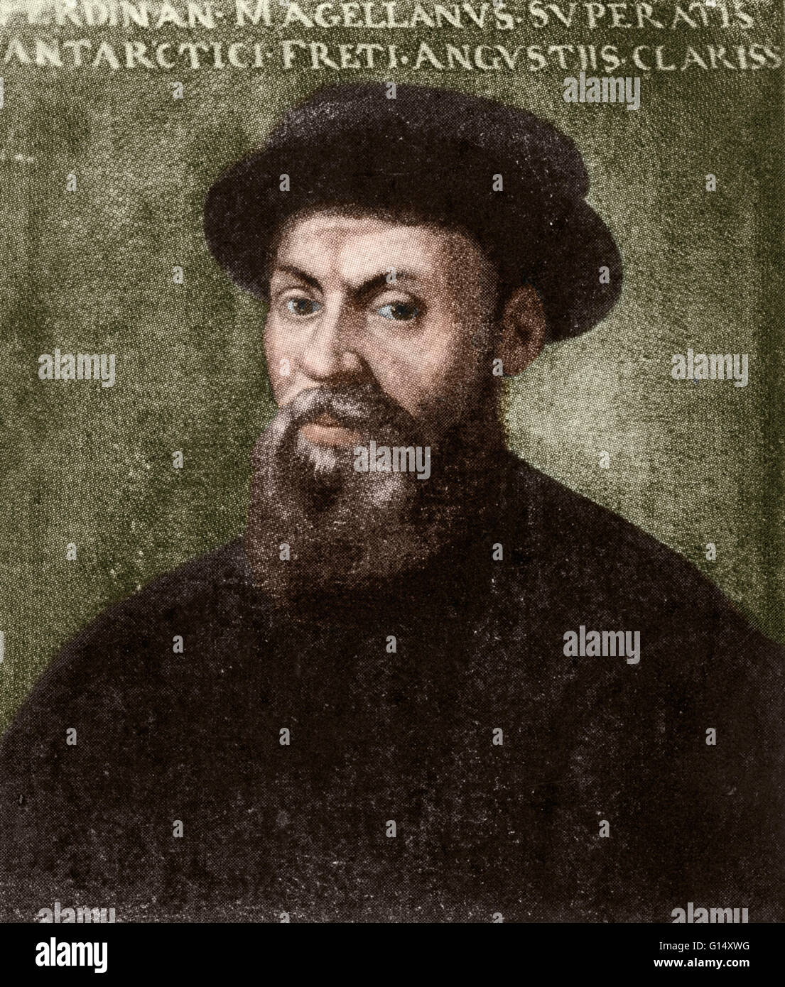 Ferdinand Magellan (1480 - April 27, 1521) was a Portuguese nobleman who had served his country as a soldier in - Stock Image