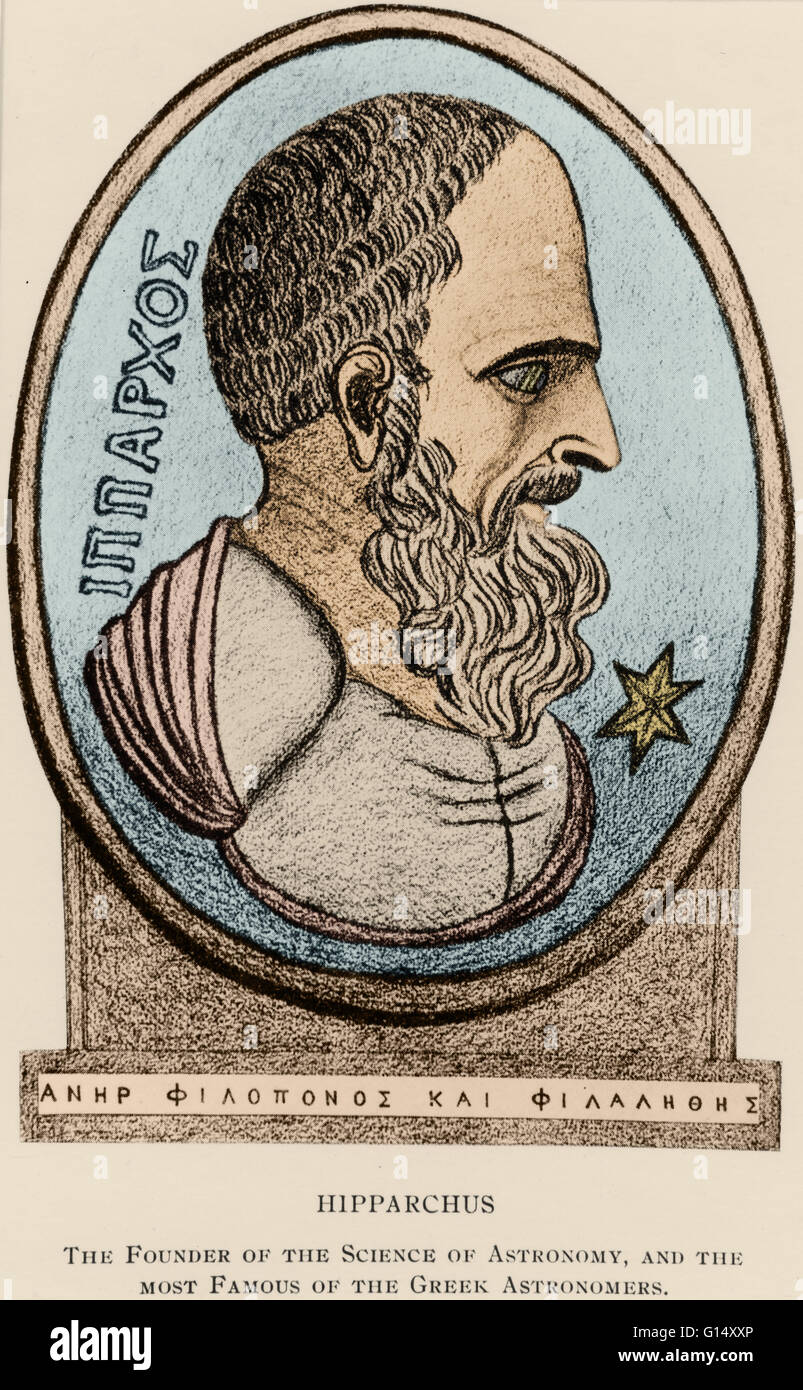 Hipparchus (190-120 BC), was a Greek astronomer, geographer, and mathematician of the Hellenistic period. A methodical - Stock Image