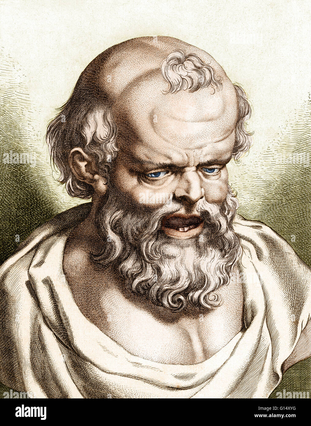Democritus of Abdera (472/457-370/360 BC) pre-Socratic Greek philosopher and the father of atomic theory. Democritus - Stock Image