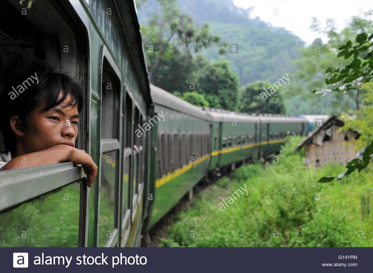 North Vietnam, train - Stock Image