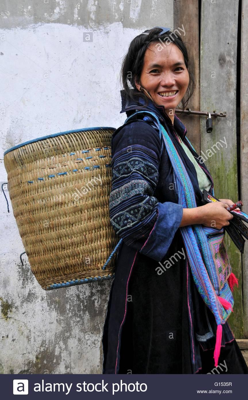 Vietnam, Sapa, Hmong woman - Stock Image