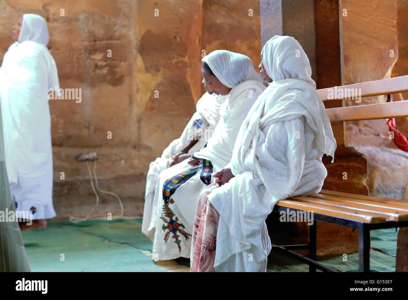 WUKRO, ETHIOPIA-MARCH 29: Orthodox christian devotees attend