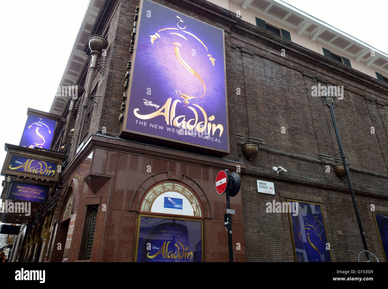 Disneys Aladdin Musical At Prince Edward Theatre In West End Of London
