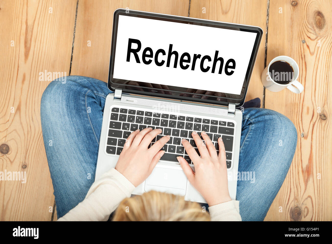 Research (in german) - Stock Image