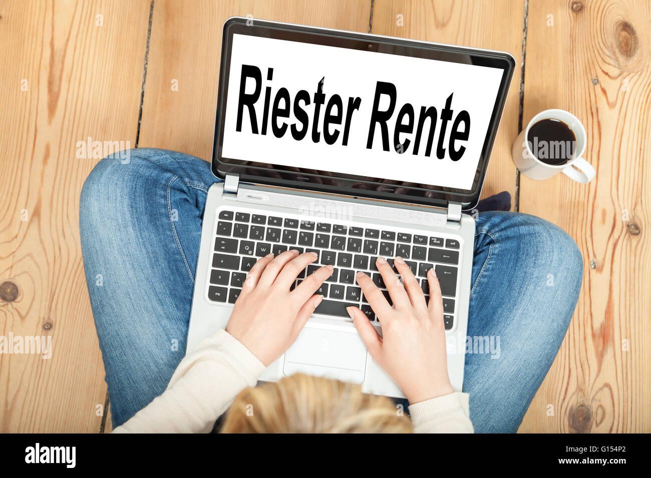 Riester Rente (german pension) Stock Photo