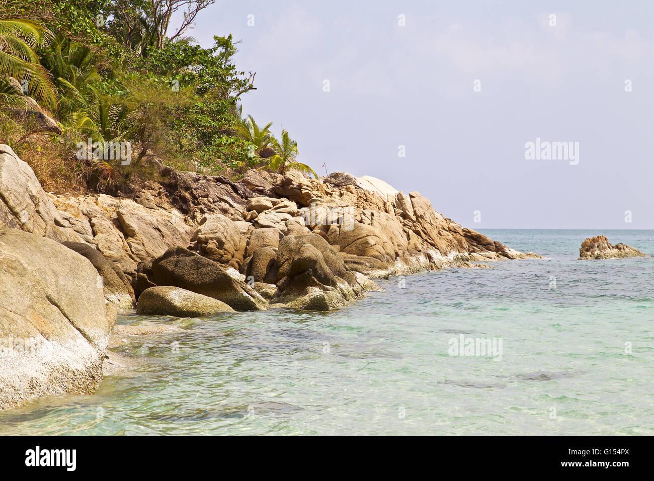 Phangan Paradise Island in the Gulf of Thailand - Stock Image