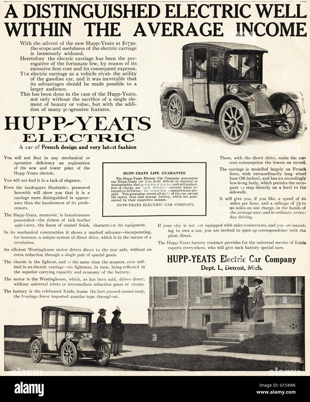 Original old vintage American magazine advert from the Edwardian era ...