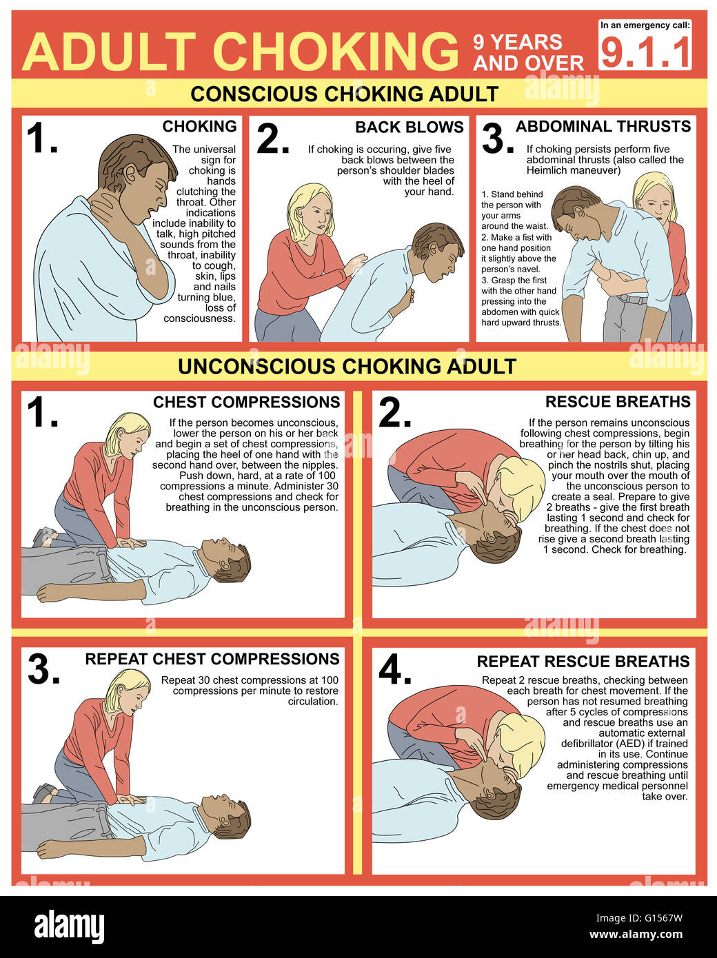 Choking First Aid Stock Photos Choking First Aid Stock Images Alamy