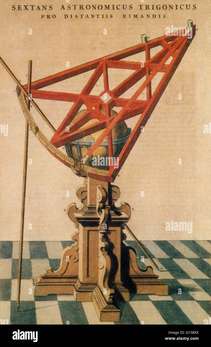 An astronomical sextant belonging to Tycho Brahe (1546-1601), the Danish astronomer, astrologer and alchemist. After - Stock Image