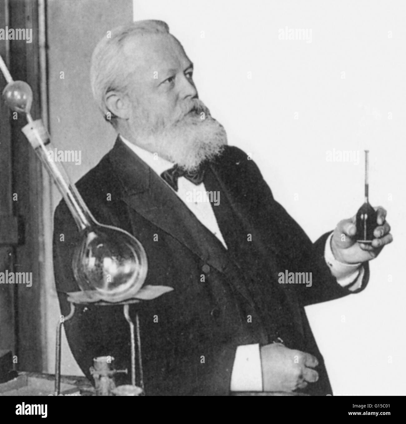 Carl Paul Gottfried von Linde (1842-1934) was a German engineer who developed refrigeration and gas separation technologies. - Stock Image
